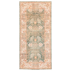 Afghan Transitional Hand Knotted Wool Rug with Muted Colors