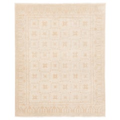 Afghan Transitional Garden Design Rug made with Hand Spun Wool