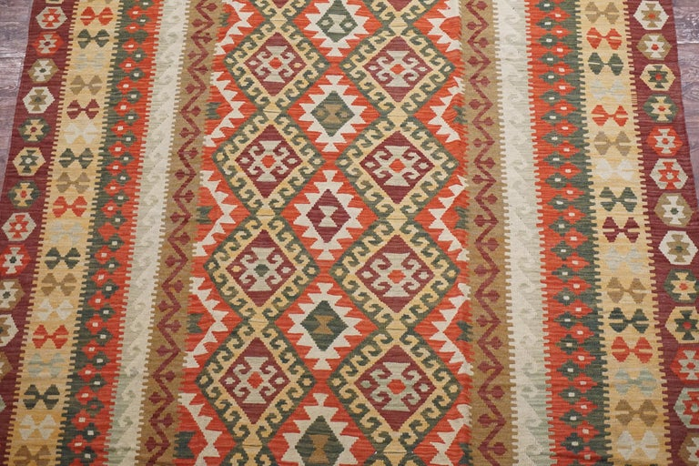 Afghan Tribal Chobi Kilim Rug In Excellent Condition For Sale In Northridge, CA