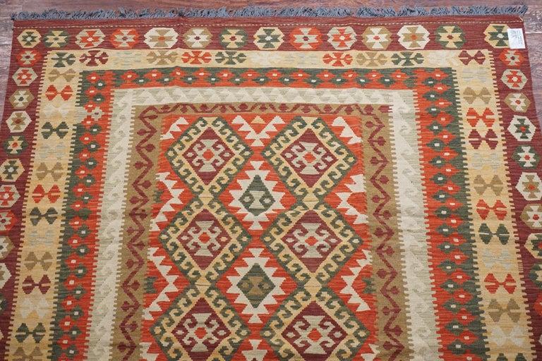 20th Century Afghan Tribal Chobi Kilim Rug For Sale