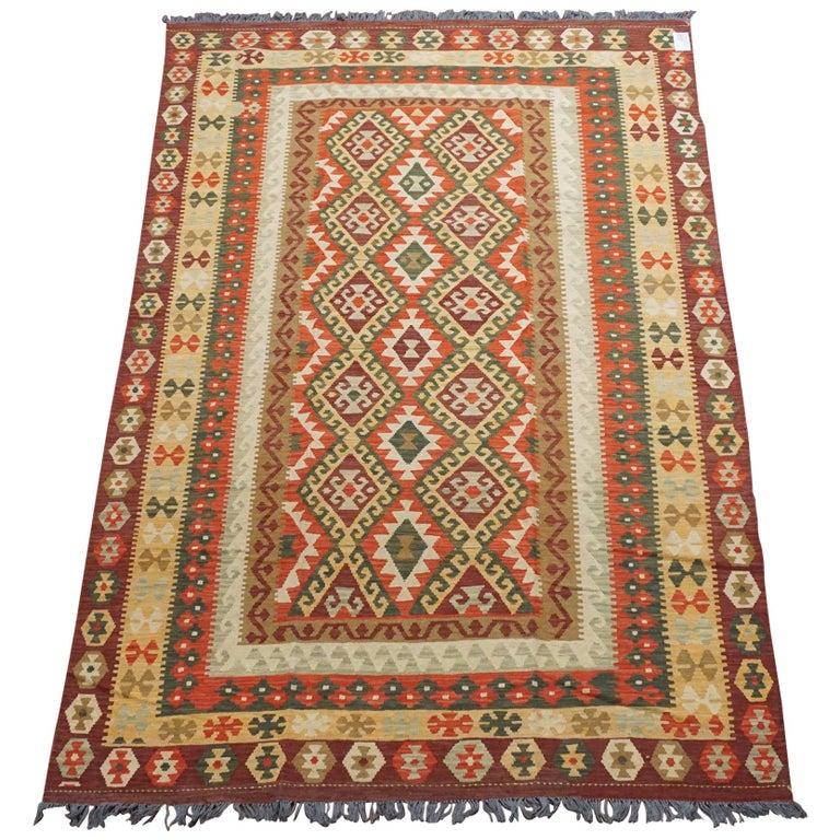 Afghan Tribal Chobi Kilim Rug For Sale At 1stdibs