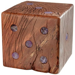 Afora Bookend in Amethyst and Wood by Anna Rabinowitz