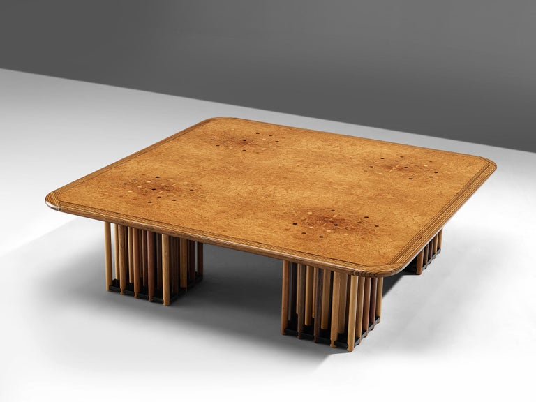 Afra and Tobia Scarpa, 'Artona' coffee table, maple burl, birch, beech, oak and fruitwood, Italy, circa 1975.