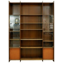 "Afra and Tobia Scarpa ""Artona"" Wood and Glass Cabinet for Maxalto, circa 1970"
