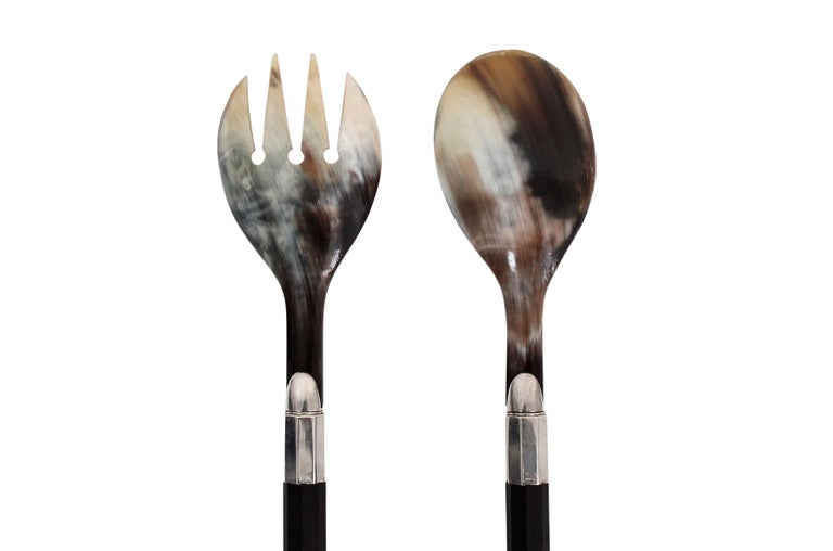 Afra and Tobia Scarpa for San Lorenzo Studio Silver Flatware For Sale 6