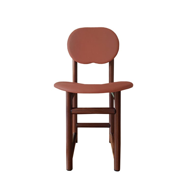 Afra and Tobia Scarpa Italian Maxalto Set of Four Chairs in Rosewood and Leather For Sale 3