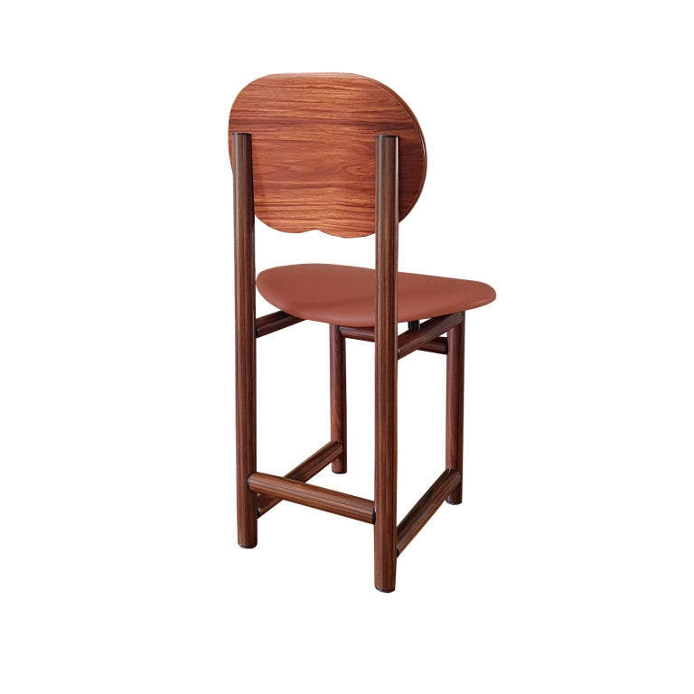 Afra and Tobia Scarpa Italian Maxalto Set of Four Chairs in Rosewood and Leather In Excellent Condition For Sale In Mornico al Serio ( BG), Lombardia
