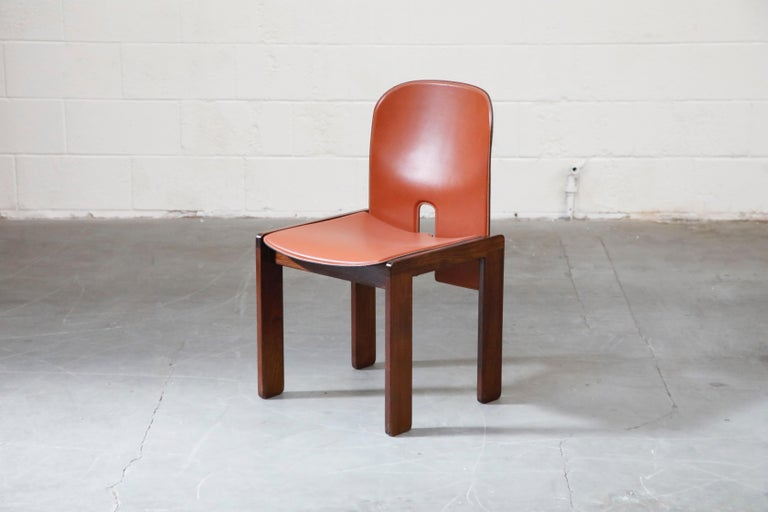 Mid-20th Century Afra and Tobia Scarpa Model 121 Rosewood Side Chairs for Cassina, Signed For Sale