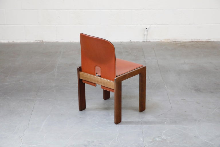 Afra and Tobia Scarpa Model 121 Rosewood Side Chairs for Cassina, Signed For Sale 3