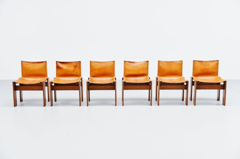 Italian Afra and Tobia Scarpa Monk Chairs Molteni Italy, 1974 For Sale