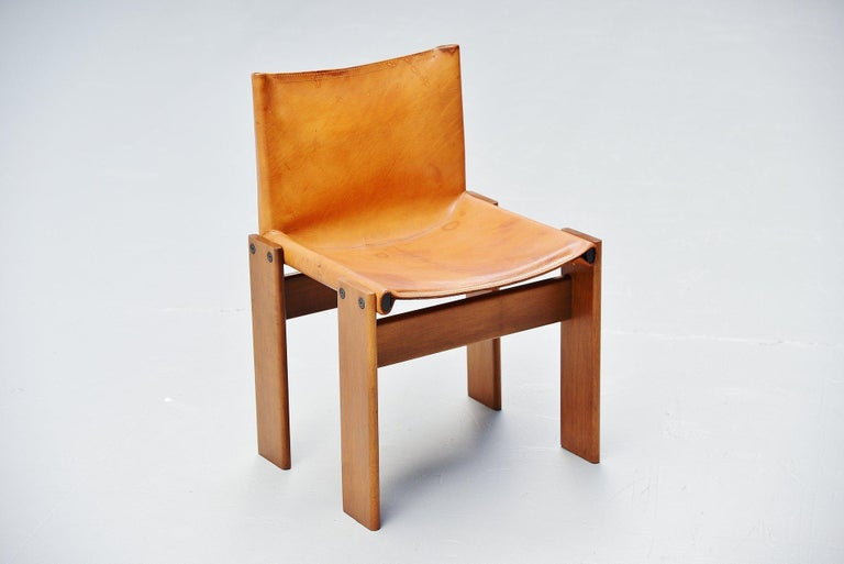 Late 20th Century Afra and Tobia Scarpa Monk Chairs Molteni Italy, 1974 For Sale