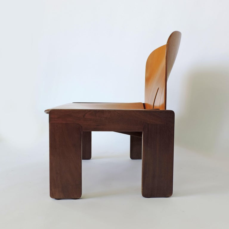 Mid-20th Century Afra & Tobia Scarpa Pair of 925 Easy Chairs for Cassina, Italy, 1966 For Sale