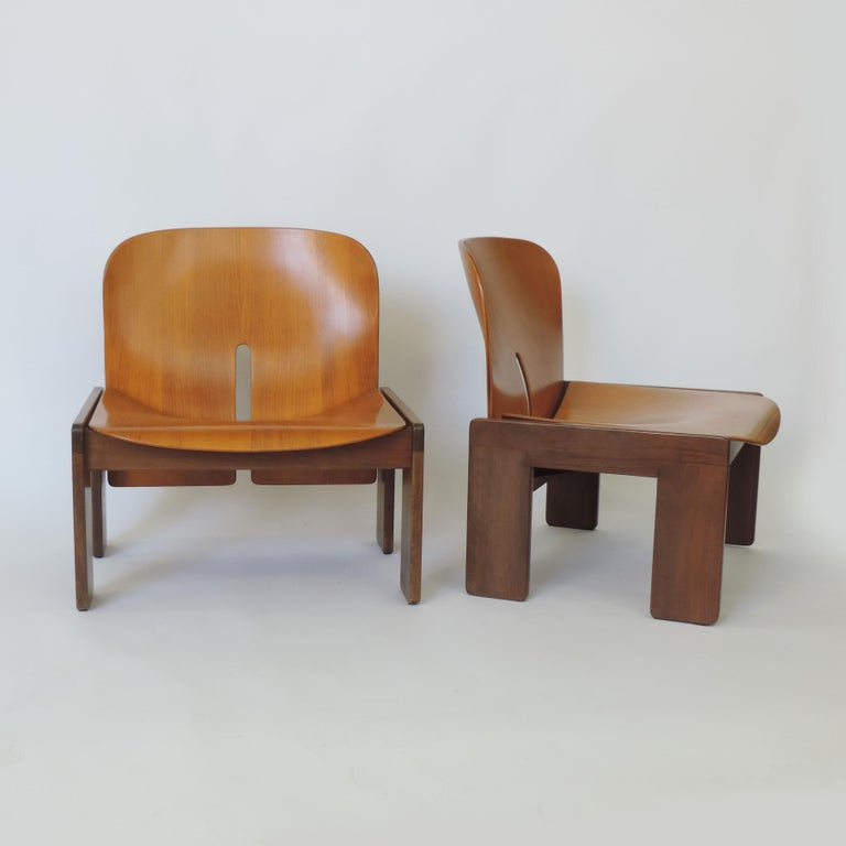Afra & Tobia Scarpa Pair of 925 Easy Chairs for Cassina, Italy, 1966 For Sale 2
