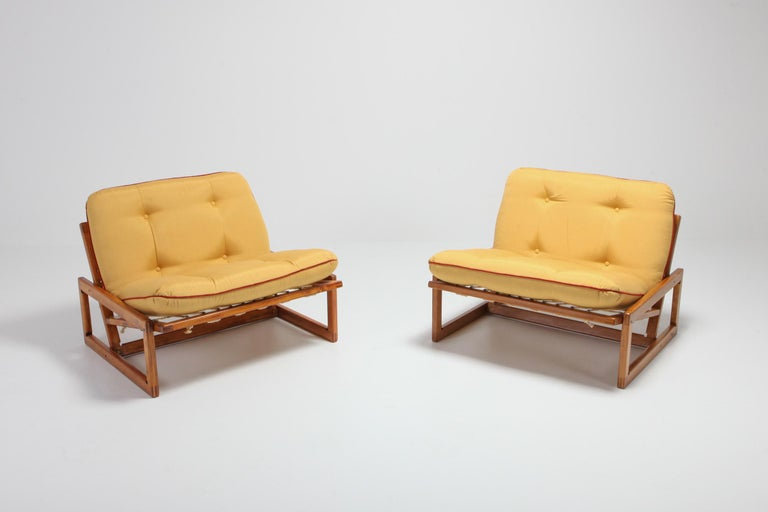 Mid-Century Modern Afra and Tobia Scarpa Pair of 'Carlotta' Lounge Chairs for Cassina For Sale