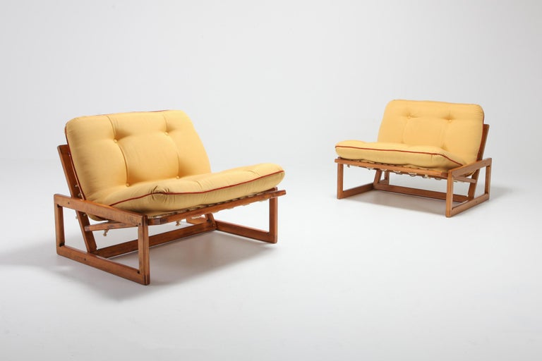 Afra and Tobia Scarpa Pair of 'Carlotta' Lounge Chairs for Cassina In Good Condition For Sale In Antwerp, BE