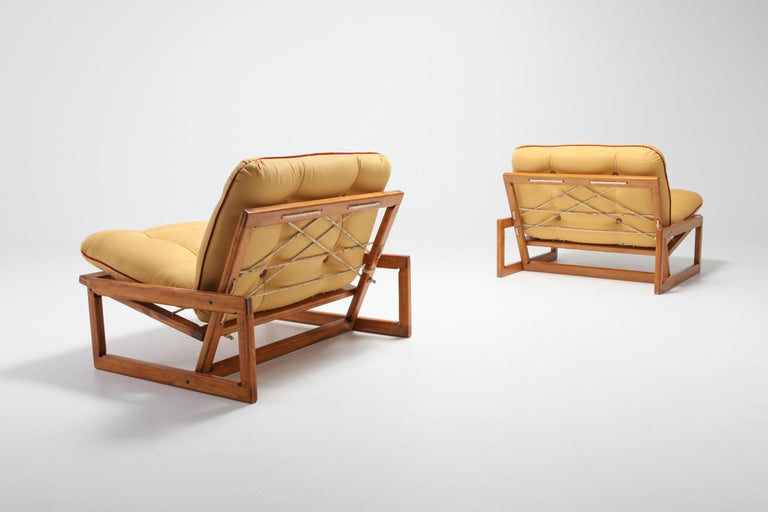 Mid-20th Century Afra and Tobia Scarpa Pair of 'Carlotta' Lounge Chairs for Cassina For Sale