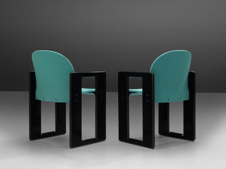 Late 20th Century Afra & Tobia Scarpa Pair of 'Dialogo' Dining Chairs For Sale