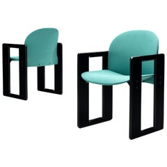 Afra & Tobia Scarpa Pair of 'Dialogo' Dining Chairs