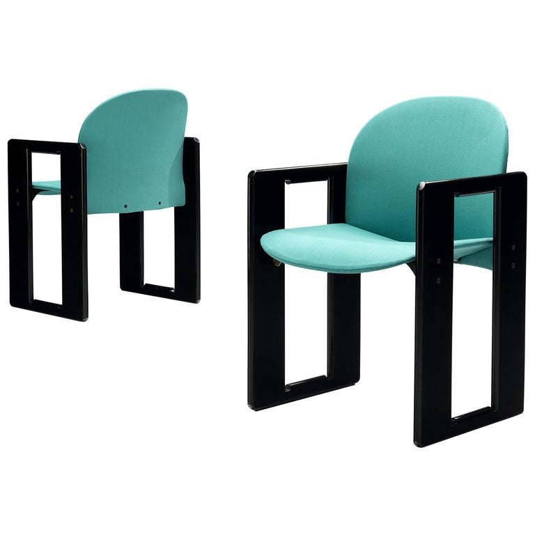 Afra & Tobia Scarpa Pair of 'Dialogo' Dining Chairs For Sale