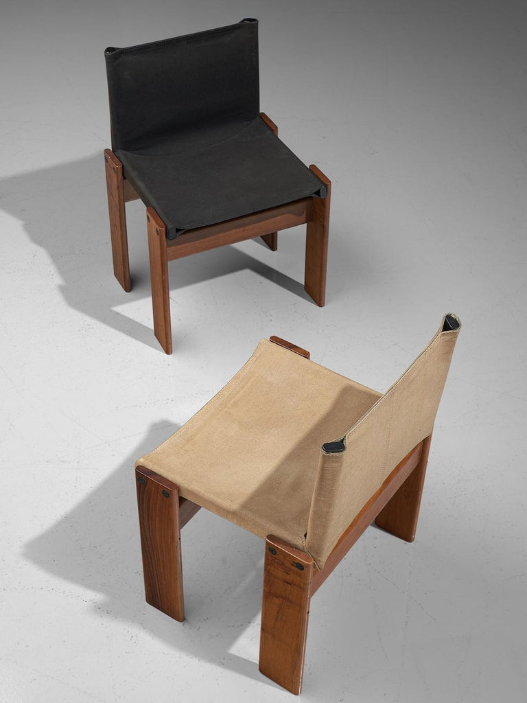 Afra and Tobia Scarpa Set of Twelve Monk Chairs Canvas 4