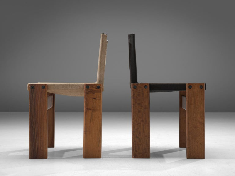Afra and Tobia Scarpa Set of Twelve Monk Chairs Canvas 1