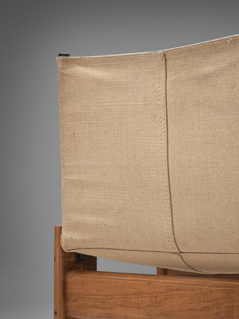 Afra and Tobia Scarpa Set of Twelve Monk Chairs Canvas 3
