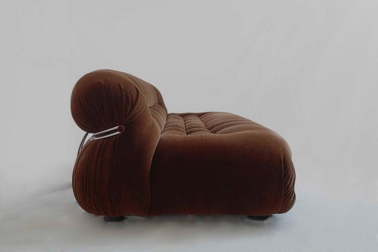 Post-Modern Afra and Tobia Scarpa Soriana Three seats Sofa, Cassina, 1970 For Sale