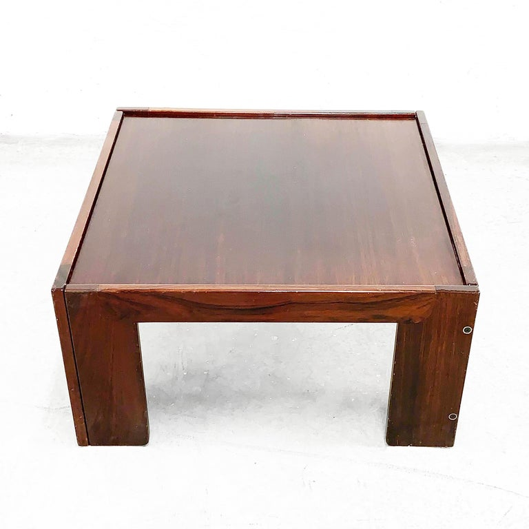 Mid-Century Modern Afra and Tobia Scarpa, Square Table, for Cassina, Italy, 1970s For Sale