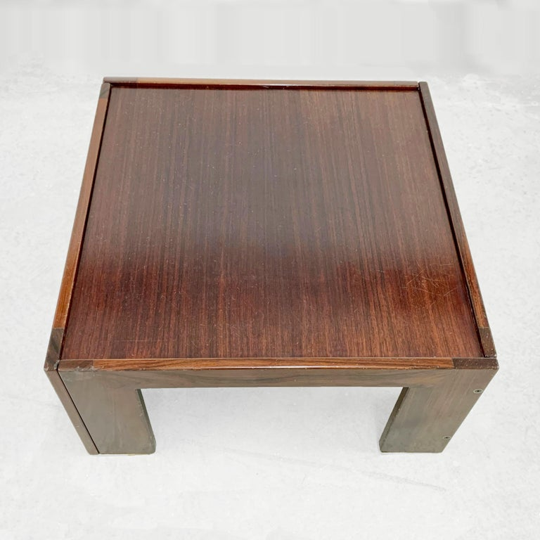 Mid-20th Century Afra and Tobia Scarpa, Square Table, for Cassina, Italy, 1970s For Sale