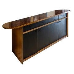 Afra e Tobia Scarpa Africa Serie Artona Maxalto Leather and wood Sideboard
