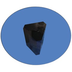 "Afra e Tobia Scarpa ""Polygono"" Table Metal Glass by B&B, 1980, Italy"