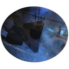"Afra e Tobia Scarpa ""Polygono"" Table Metal Glass by BeB, 1980, Italy"