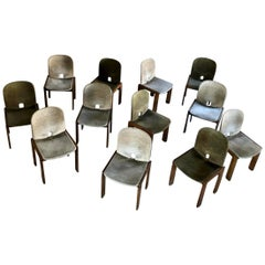 "Afra & Tobia Scarpa ""121"" Chairs for Cassina, 1968, Set of Fourteen"