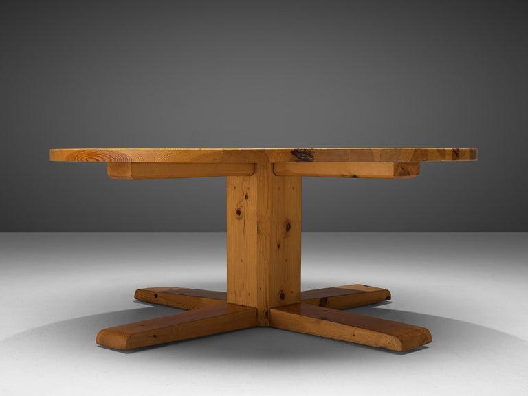 Mid-20th Century Afra & Tobia Scarpa '121' Dining Chairs and a Large Spanish Dining Table in Pine For Sale