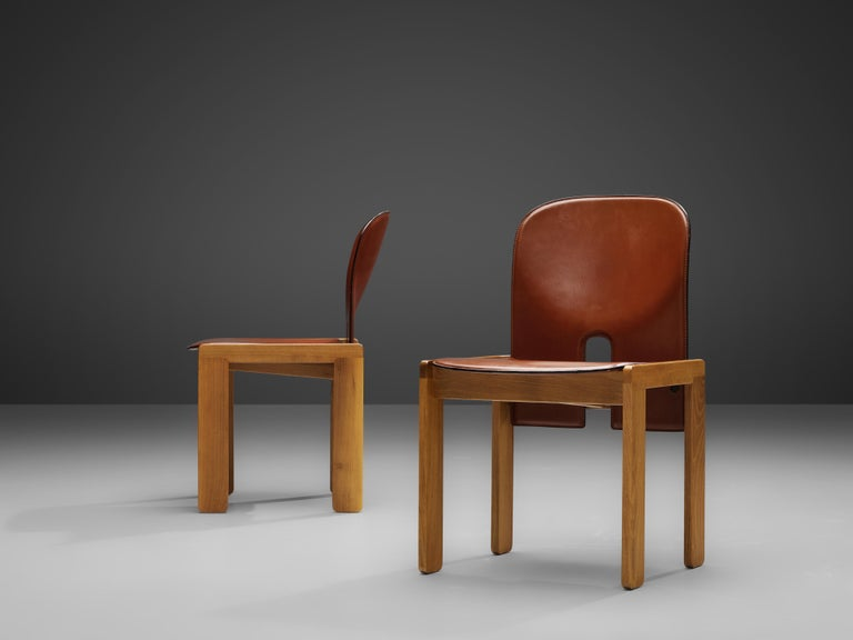 Afra & Tobia Scarpa '121' Dining Chairs and a Large Spanish Dining Table in Pine For Sale 2