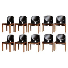 """Afra & Tobia Scarpa """"121"""" Dining Chairs for Cassina, 1968, Set of 10"""