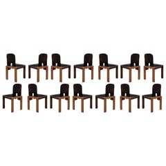 """Afra & Tobia Scarpa """"121"""" Dining Chairs for Cassina, 1968, Set of 14"""