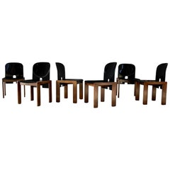 "Afra & Tobia Scarpa ""121"" Dining Chairs for Cassina, 1968, Set of 6"