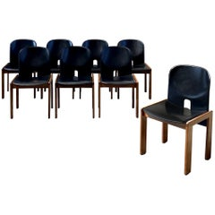 """Afra & Tobia Scarpa """"121"""" Dining Chairs for Cassina, 1968, Set of 8"""