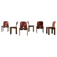 "Afra & Tobia Scarpa ""121"" Dining Chairs for Cassina, 1968, Set of 8"
