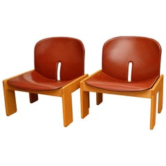 Afra & Tobia Scarpa, a Pair of Lounge Chairs, Model 925, Cassina, 1960s