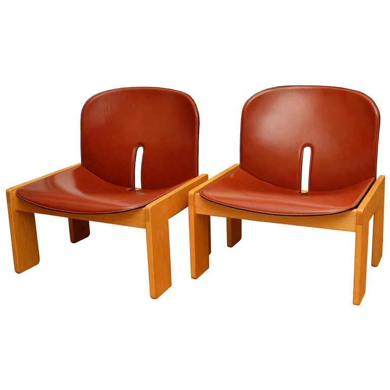 Afra & Tobia Scarpa, a Pair of Lounge Chairs, Model 925, Cassina, 1960s For Sale