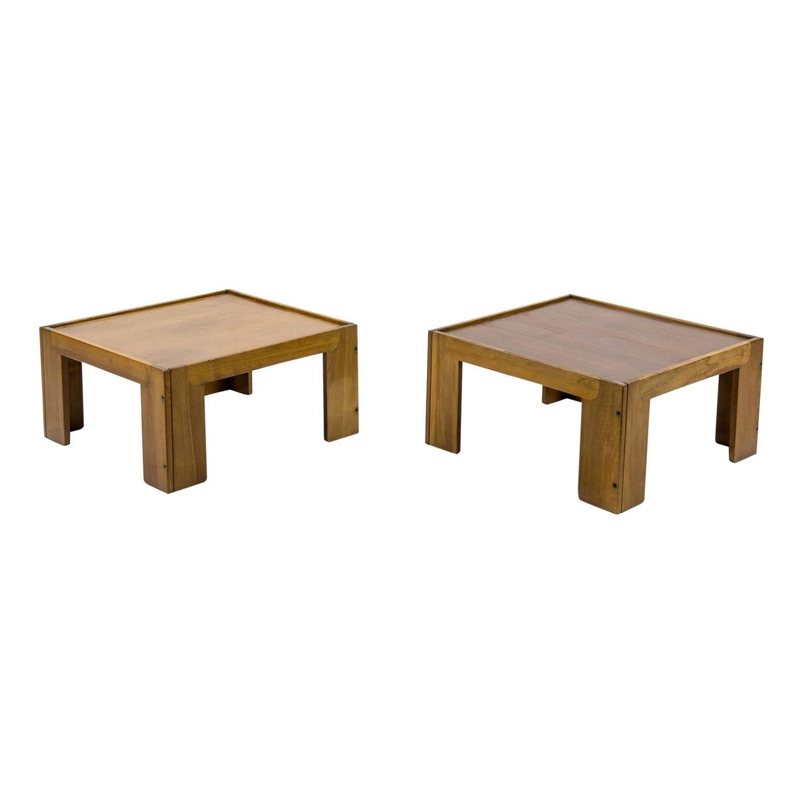 Afra & Tobia Scarpa, a Pair of Low Tables, Model 771, Cassina, 1960s