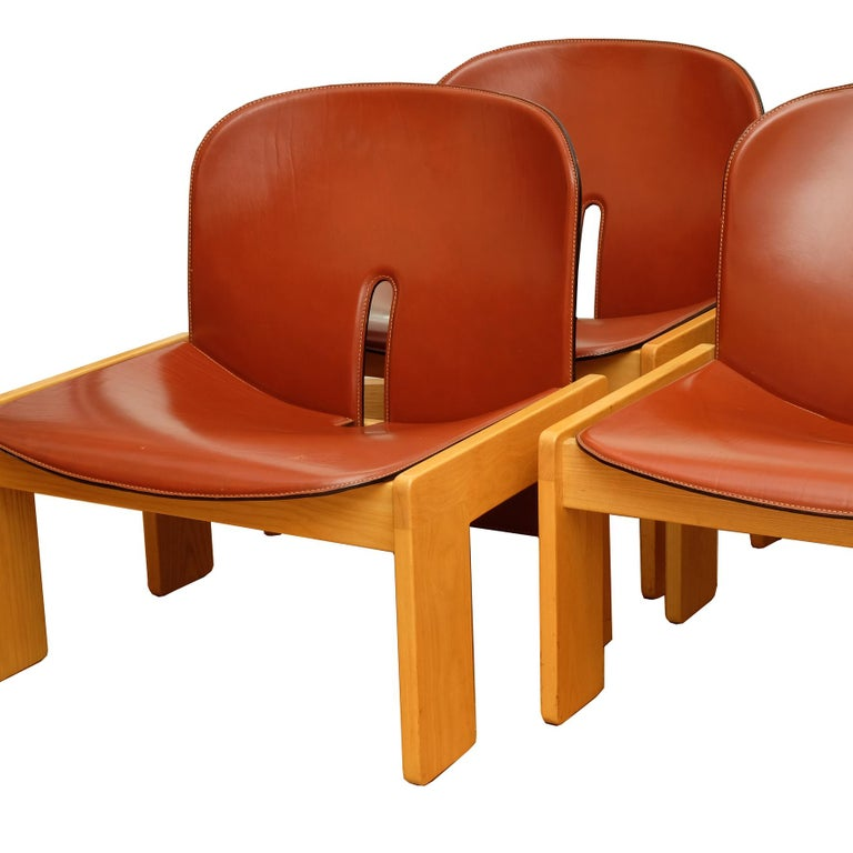 Mid-20th Century Afra & Tobia Scarpa, a Set of Four Lounge Chairs, Model 925, Cassina, 1960s For Sale