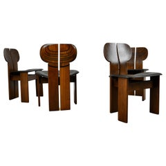 """Afra & Tobia Scarpa """"Africa"""" Dining Chairs for Maxalto, 1975, Set 4"""