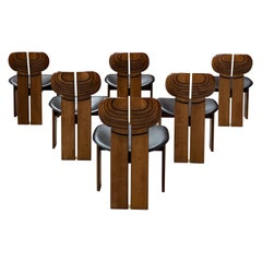 "Afra & Tobia Scarpa ""Africa"" Dining Chairs for Maxalto, 1975, Set of Six"
