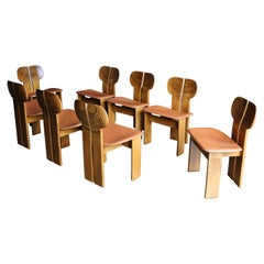 "Afra & Tobia Scarpa ""Africa"" Dining Chairs for Maxalto, circa 1975"