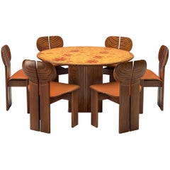 Afra & Tobia Scarpa 'Africa' Dining Set in Walnut