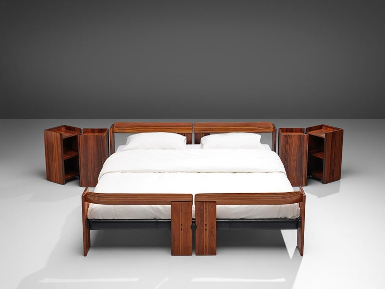 Afra & Tobia Scarpa 'Artona' Bed with Nightstands  In Good Condition For Sale In Waalwijk, NL