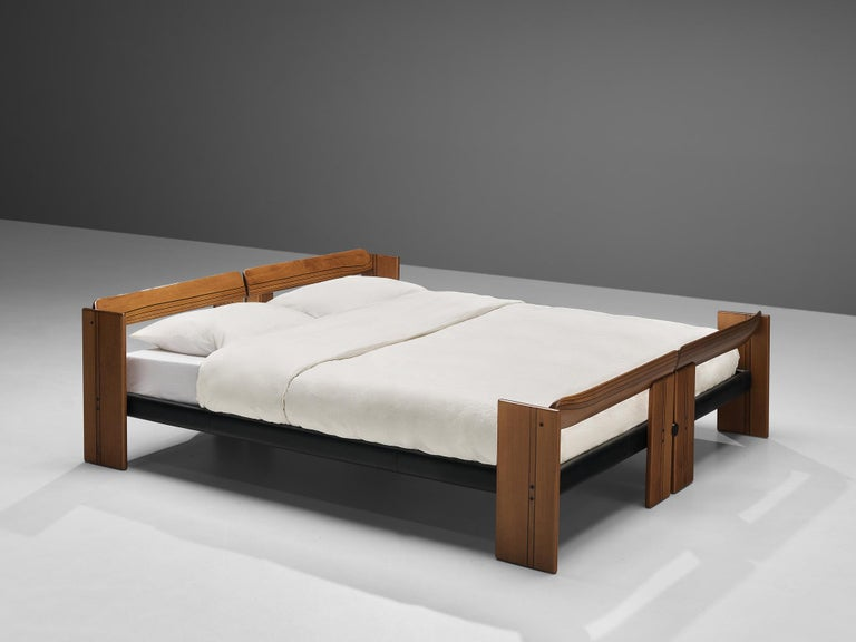 Italian Afra & Tobia Scarpa 'Artona' Double Bed with Nightstands For Sale